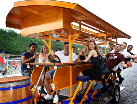 Private 2 Hour Tour Unlimited Beer Bike in Prague