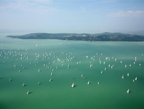 Panoramic Flight Tour over Balaton from Budapest