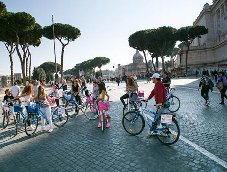 Rome Highlights 3 Hour Group Bike Tour