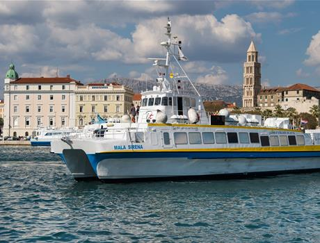 Catamaran Tour to Golden Horn and Bol from Split and Nečujam