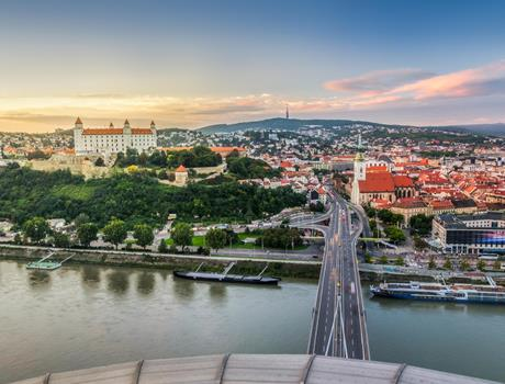 Bratislava: Walking Tour, Private Car & UFO Observation Deck
