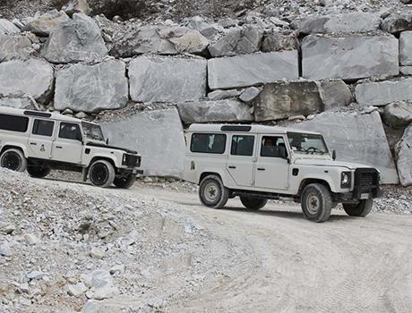 Visit Carrara marble quarries by 4x4 Jeep Tour from Lucca