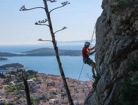 Climbing session on Marjan hill from Split