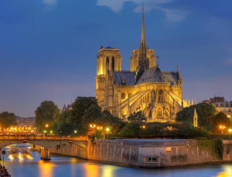 Dinner near the Champs Elysees & Seine River Cruise and Illuminations Night Tour in Paris