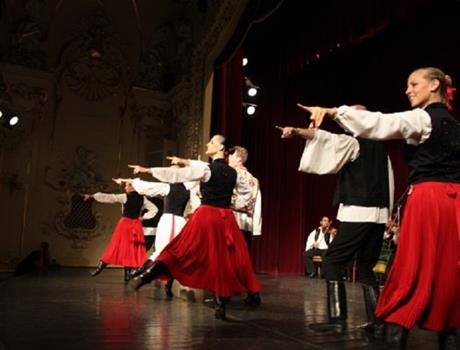 Hungarian Folklore performance in Danube Palace from Budapest