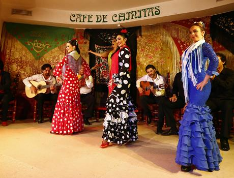 Flamenco Masterclass Show in Madrid with Dinner at the Café the Chinitas