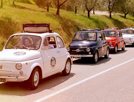 Visit Bolgheri on an Original Fiat 500 from Livorno