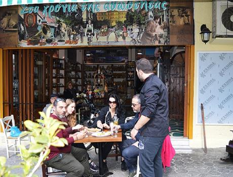 Food tour with electric bikes from Athens