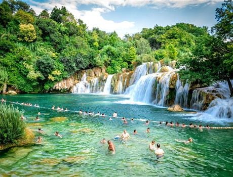 Full Day Krka Waterfalls Experience with Wine Tasting from Split