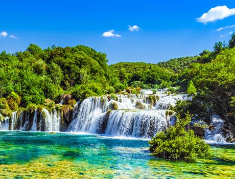 Full-day Tour: Krka Waterfalls & Šibenik from Split or Trogir