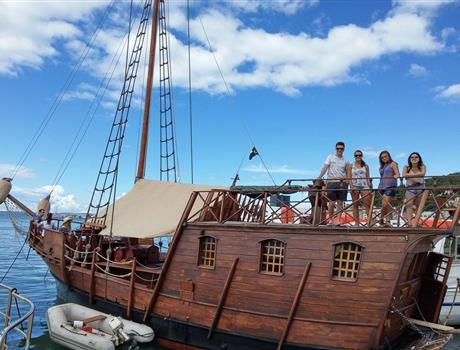Half Day Boat Tour with Pirate Ship from Split
