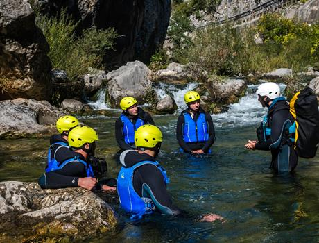 Half Day Extreme Canyoning on the River Cetina from Split