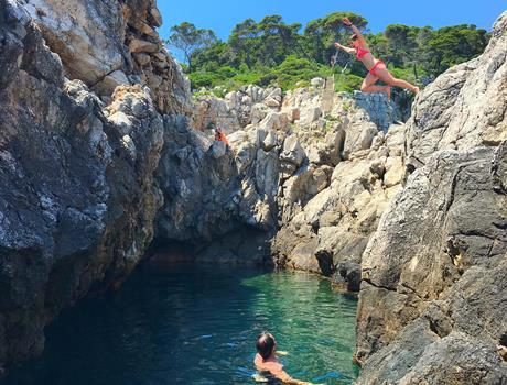 Hiking and Swimming In a Hidden Place On Kolocep Island