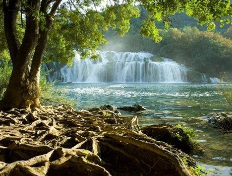Krka Falls with River Boat Ride & Šibenik Town from Split
