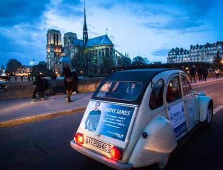Private Tour: Night in Paris by 2CV