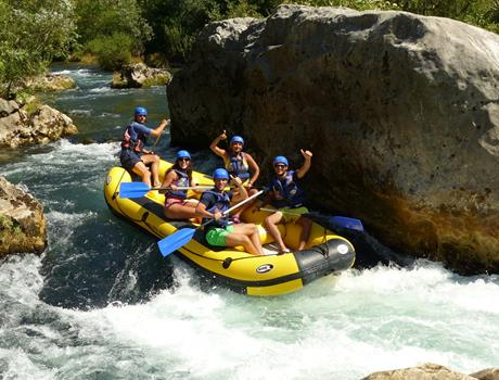 Rafting on the river Cetina from Omis