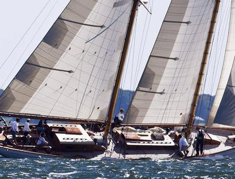 Regatta with Three Yachts in the Black Sea from Varna