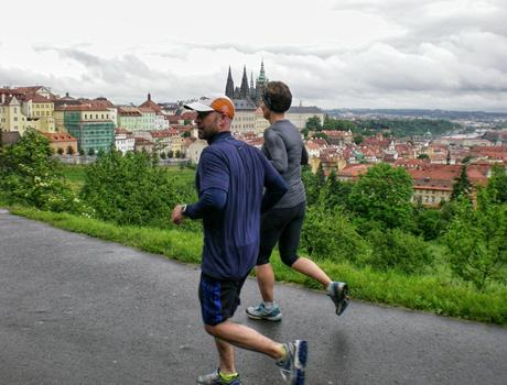 Running in Prague City tour
