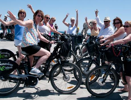 Discover Gaudi on E-bike tour from Barcelona