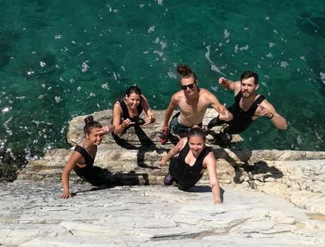 Cliff jumping plus deep water soloing in Split