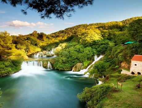 Full Day Tour to National Park Krka and Šibenik from Trogir and Primošten