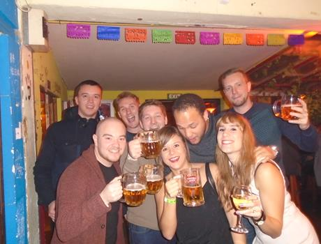 Pub Crawl in Budapest including Power Hour-All You Can Drink For 40 minutes