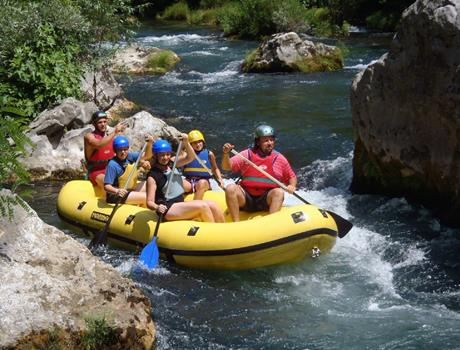 Half Day Rafting Tour with Transfer from Trogir and Okrug Gornji