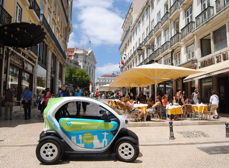 Bohemia Tour Lisbon in an Electric Car with GPS Audio Guide