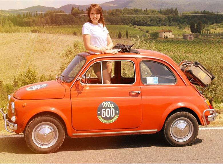Panoramic Tour of Florence with Vintage Fiat 500