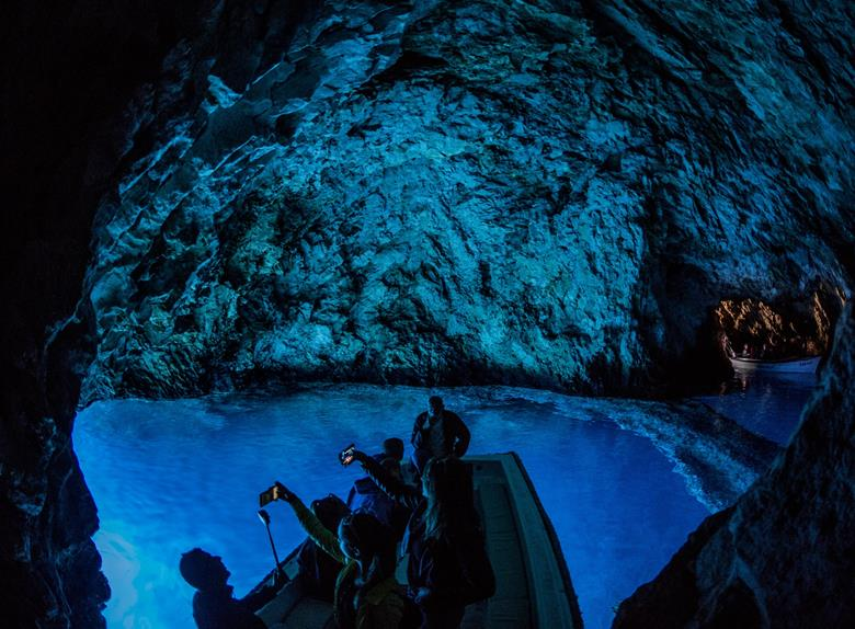 Take a speedboat to the Blue Cave