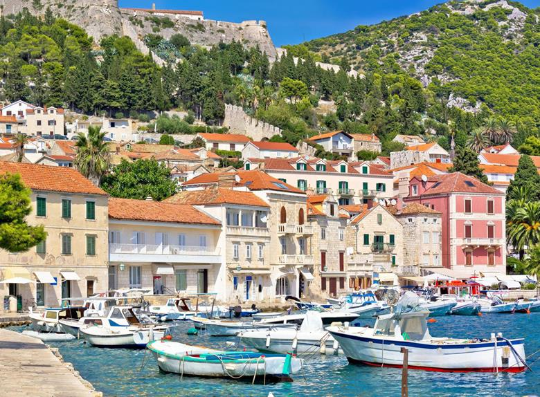The city of Hvar (Hvar island)