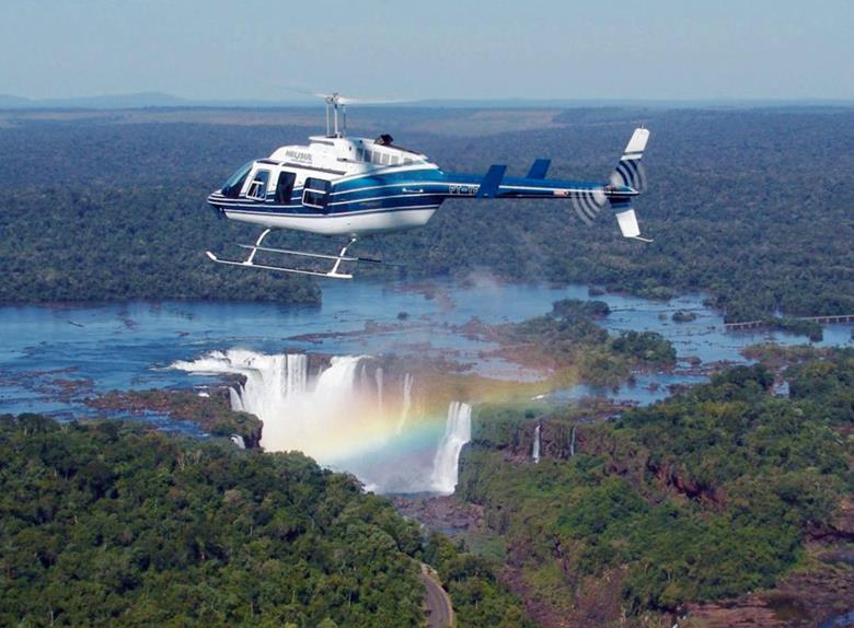 Iguassu Falls Panoramic Helicopter Flight from Foz do Iguazu