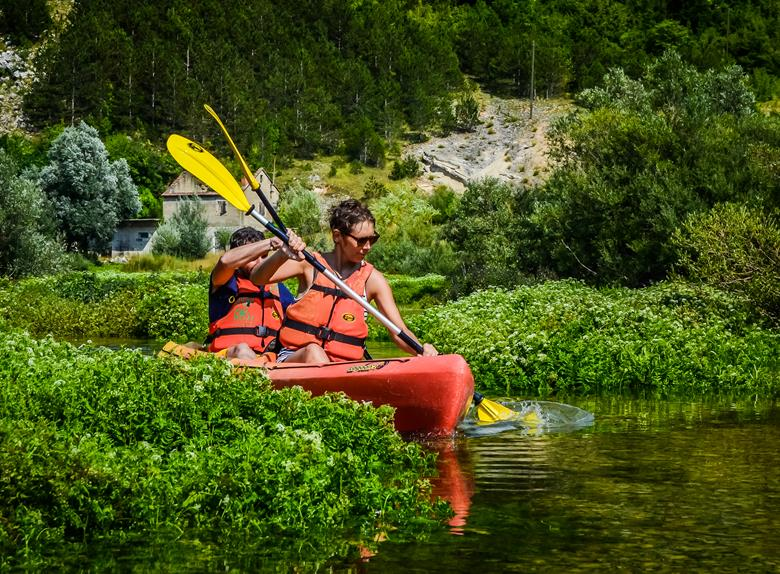 Kayak on the river Cetina from Split