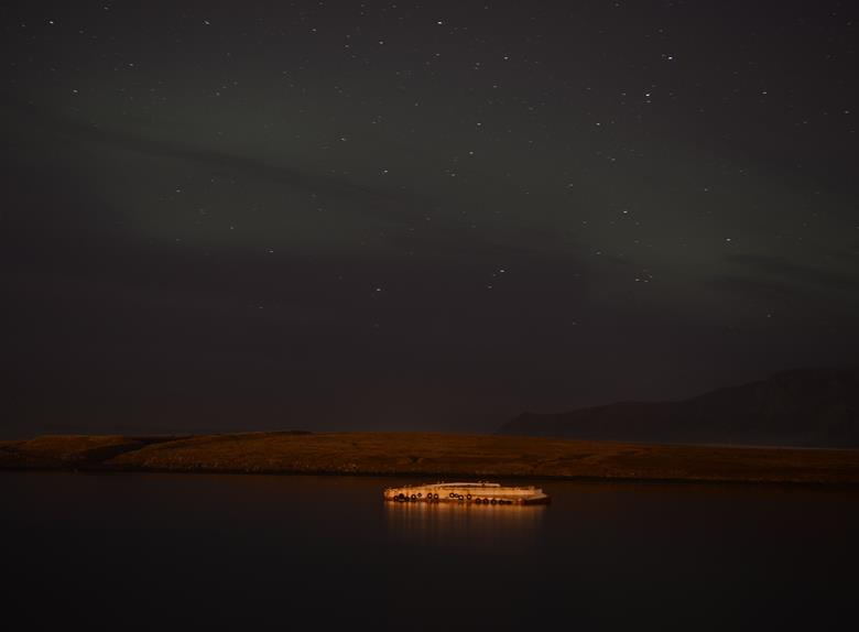 Northern Lights on Viðey Island from Reykjavik