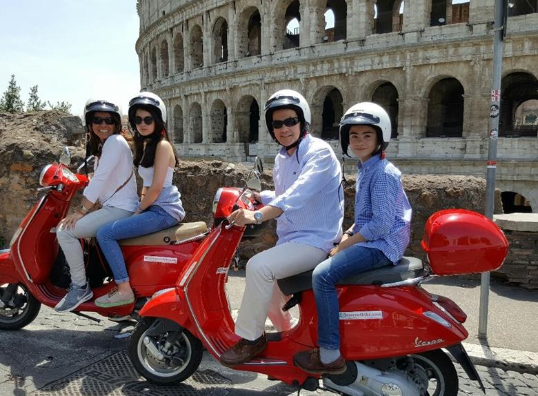 Explore Rome on the Classic Italian Scooter Vespa
