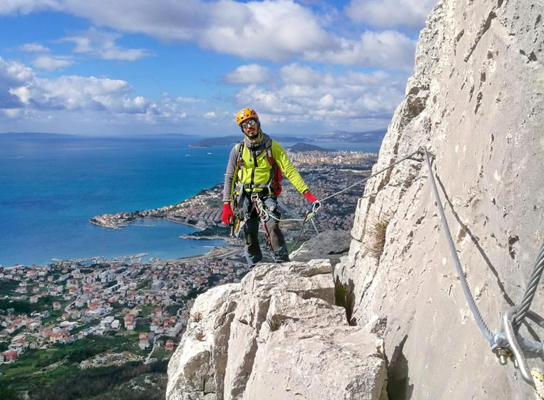 Klettersteig Franken : Klettersteig auf perun hügel von split sommer 2018 happytovisit.com