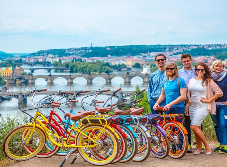 Take a bike tour around Prague