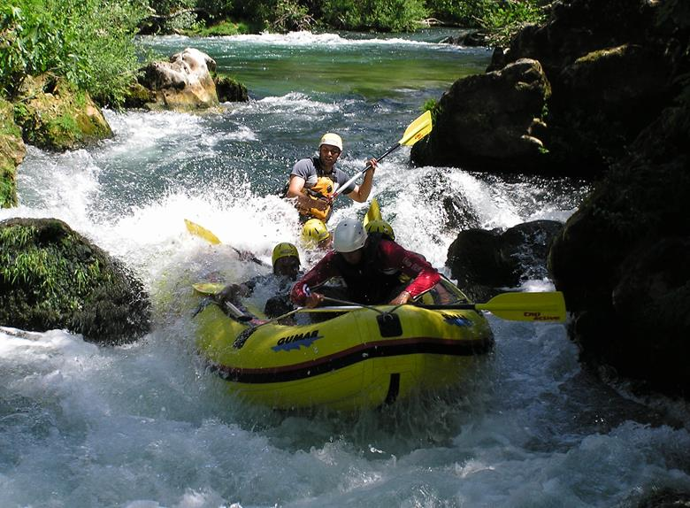 Go Rafting on the river Cetina
