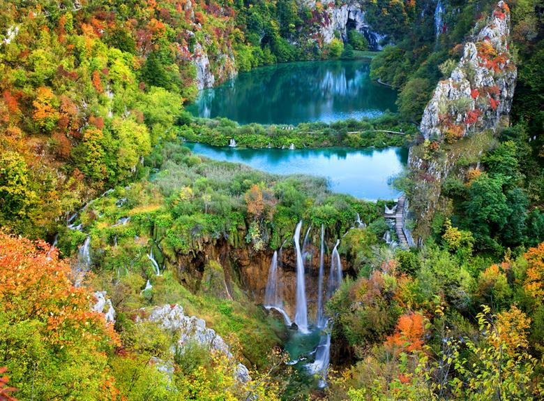 Full Day Tour to National Park Plitvice from Trogir