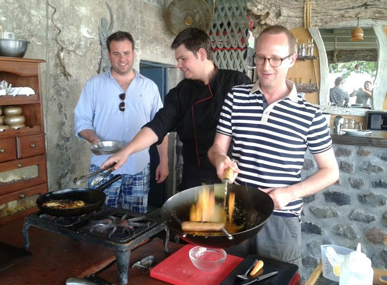 Full Day Santorini Cooking Class and Wine-Tasting Tour